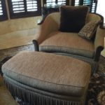 $600 Chenille 2 Chair Plus Ottoman